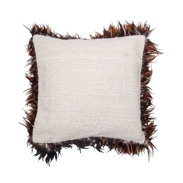 Rose Avenue | Feather Cushion Natural | Shut the Front Door