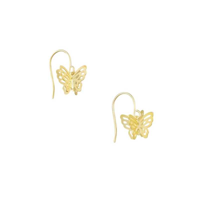Tiger Tree | Gold Butterfly Earrings | Shut the Front Door
