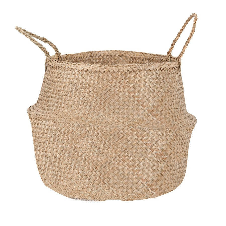 General Eclectic | Seagrass Belly Basket Lrg NATURAL | Shut the Front Door