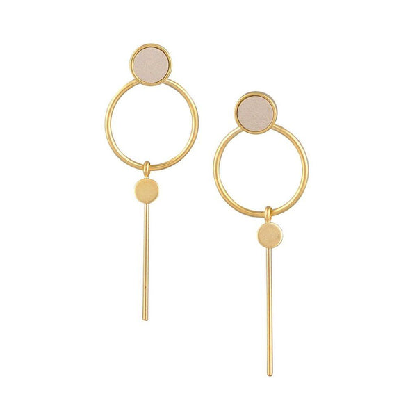 Tiger Tree | Earrings Gold/Ivory Hoop Bar | Shut the Front Door