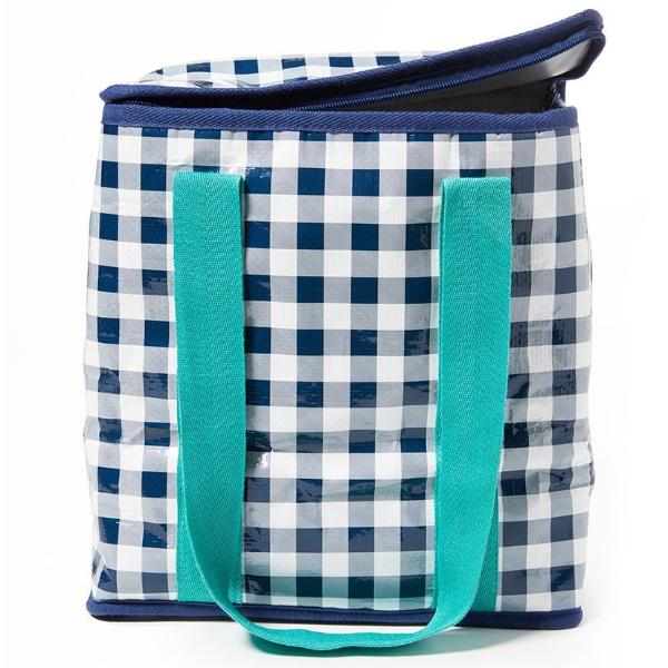 Project Ten | Insulated Tote Bag -  Navy Gingham | Shut the Front Door