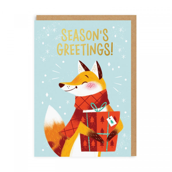 Oh Deer | Christmas Card - Seasons Greetings Fox | Shut the Front Door