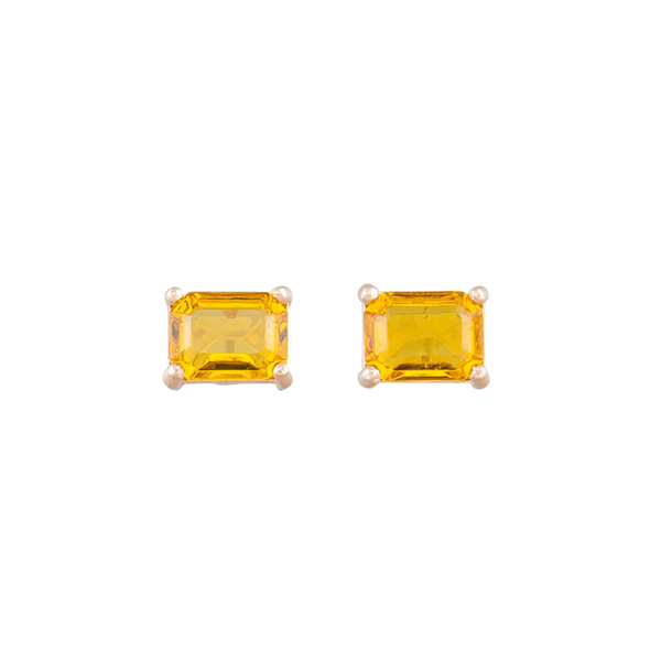Tiger Tree | Midi Crystal Studs - Amber | Shut the Front Door