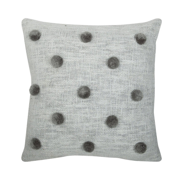 Rose Avenue | Pompom Cushion Grey on Grey | Shut the Front Door
