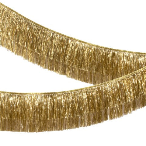 Tinsel Fringe Garland - Gold