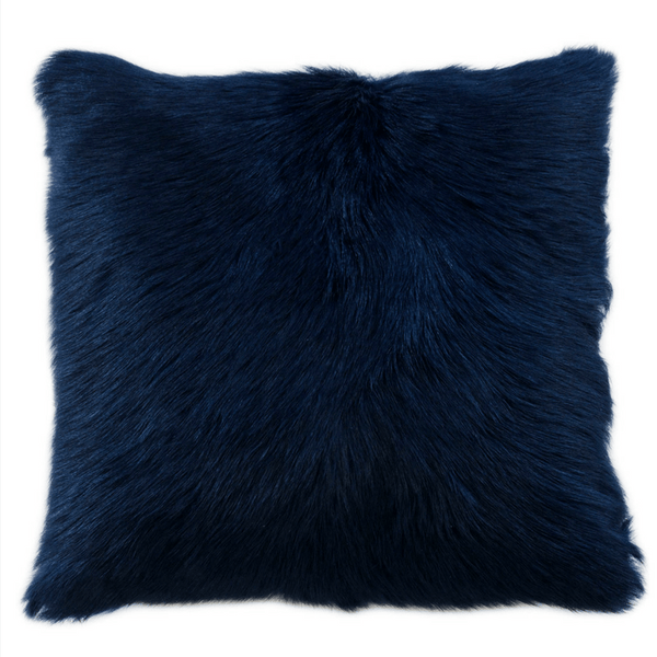 Goat Fur Cushion Limoges Blue