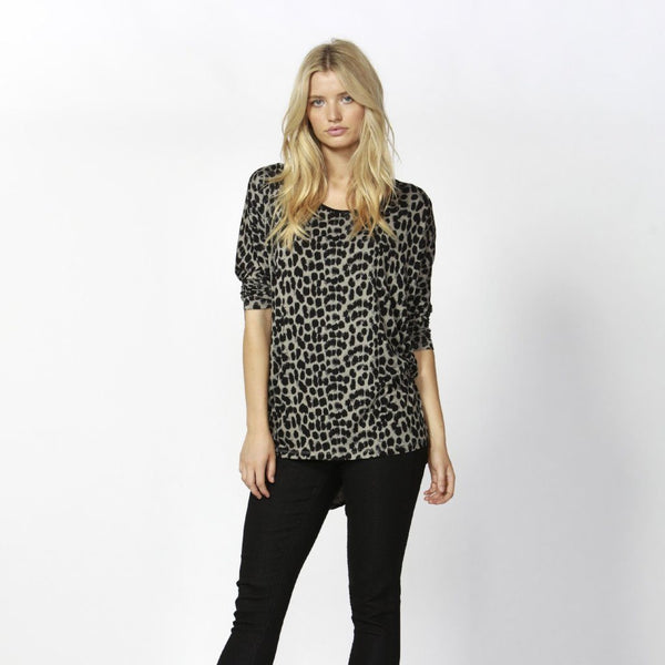 Betty Basics | Milan 3/4 Sleeve Top Leopard | Shut the Front Door