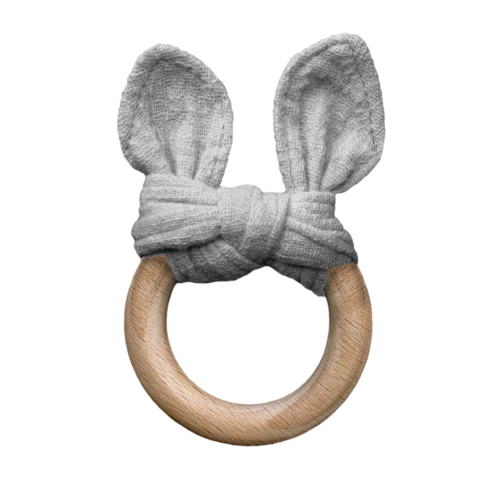 Lily and George | Grey the Bunny Teether | Shut the Front Door