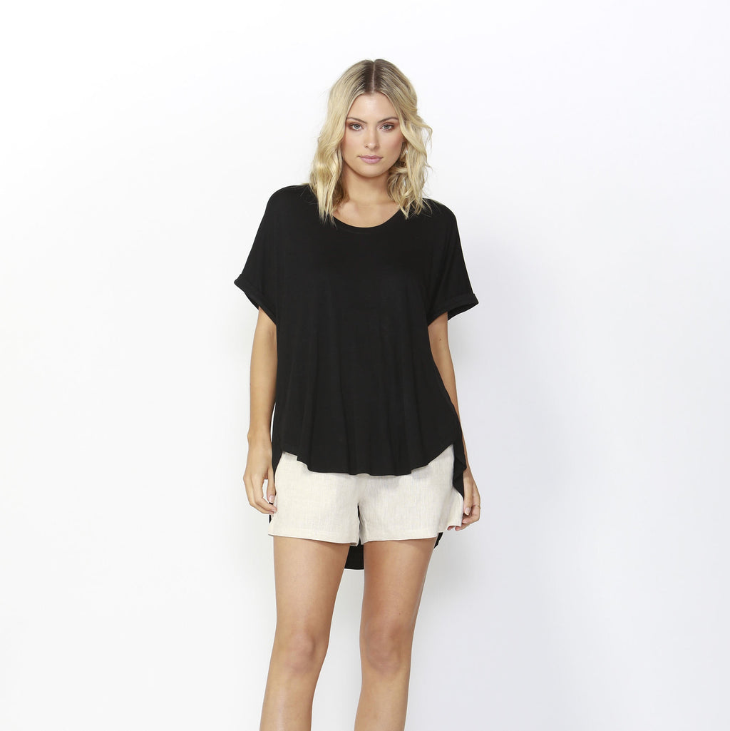 Betty Basics | Adelaide Tee Black | Shut the Front Door