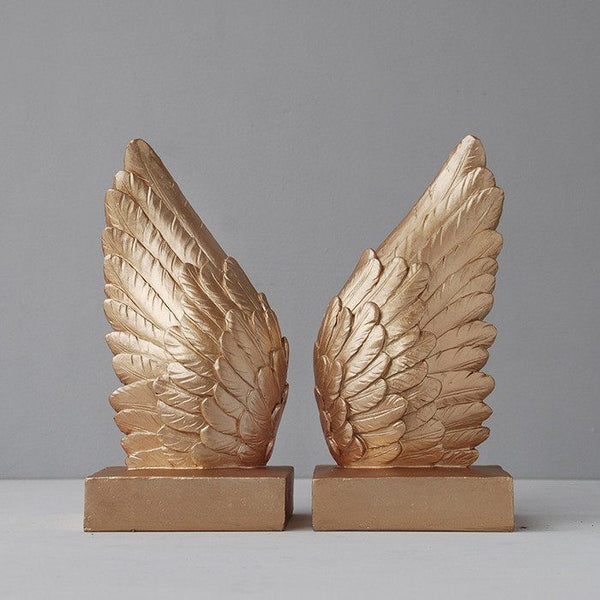 White Moose | Wing Bookends GOLD | Shut the Front Door