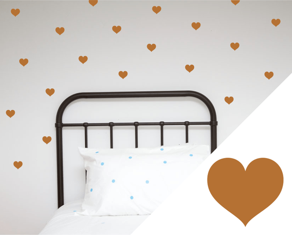 100PercentHeart | Wall Stickers Hearts Large Copper | Shut the Front Door