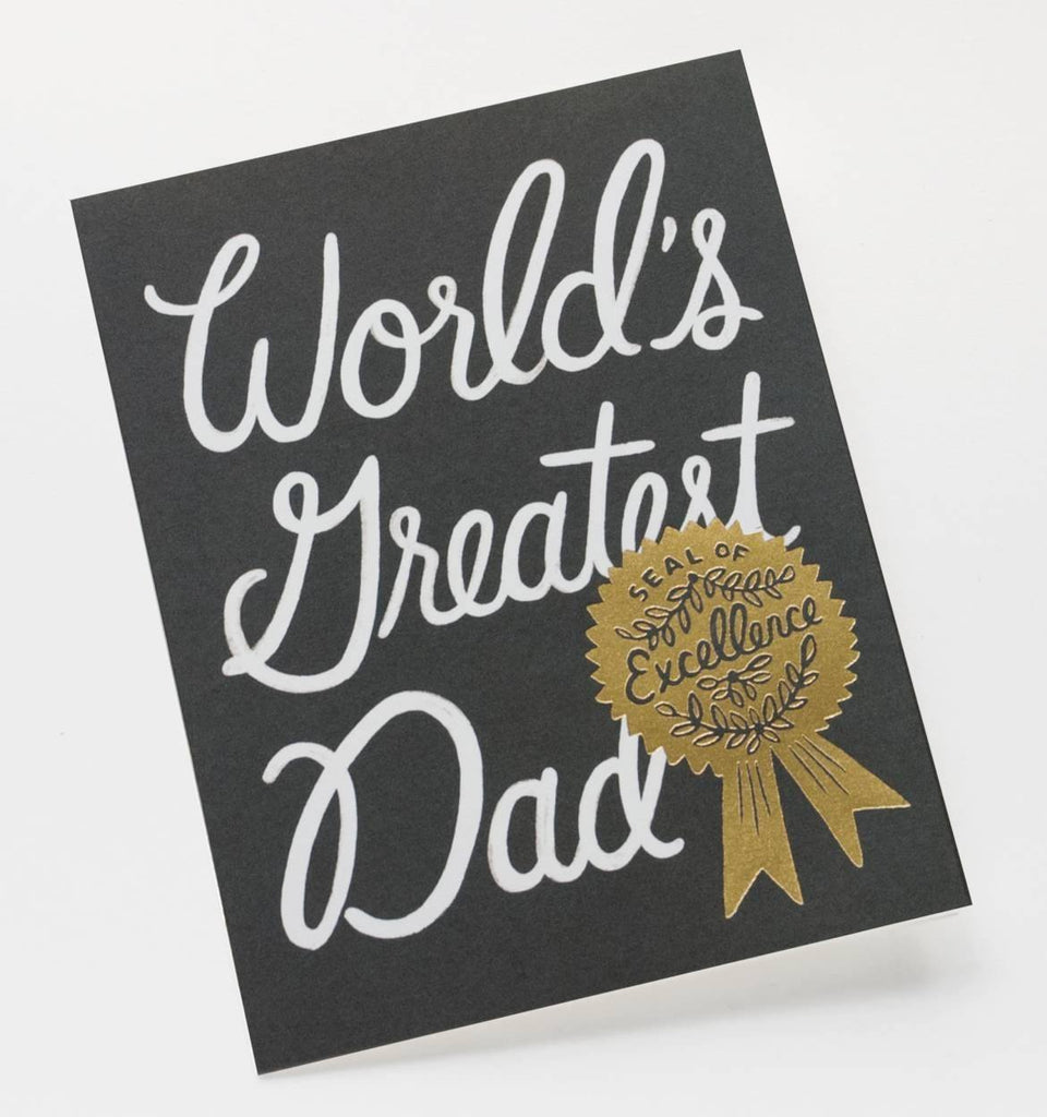 Rifle Paper Co | Fathers Day Card - World's Greatest Dad | Shut the Front Door