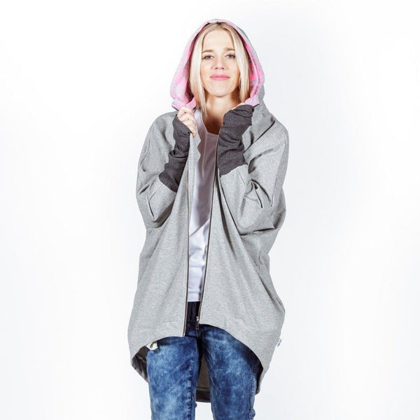 Home-lee | Kimono Hoodie - Grey | Shut the Front Door