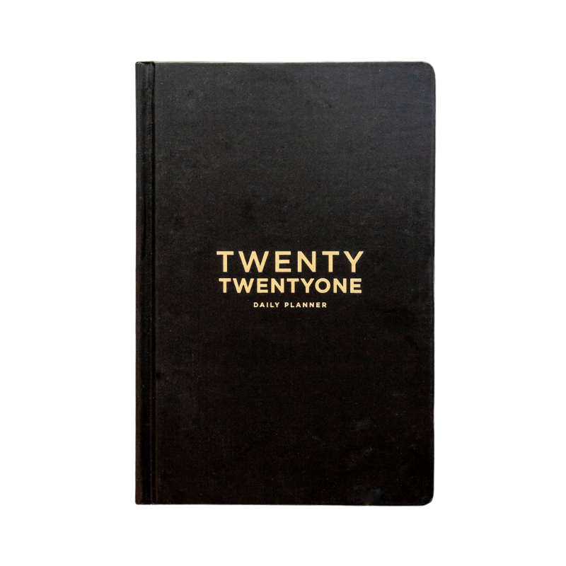 Frank | 2021 Daily Planner - Black | Shut the Front Door
