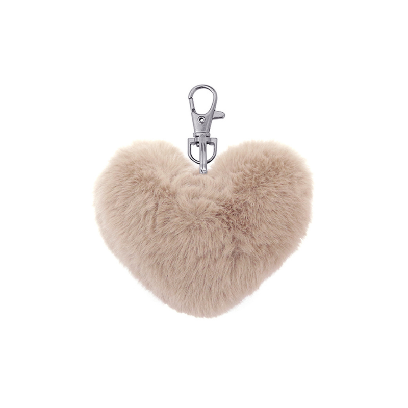 Le Forge | Fluffy Heart Keychain - Blush | Shut the Front Door