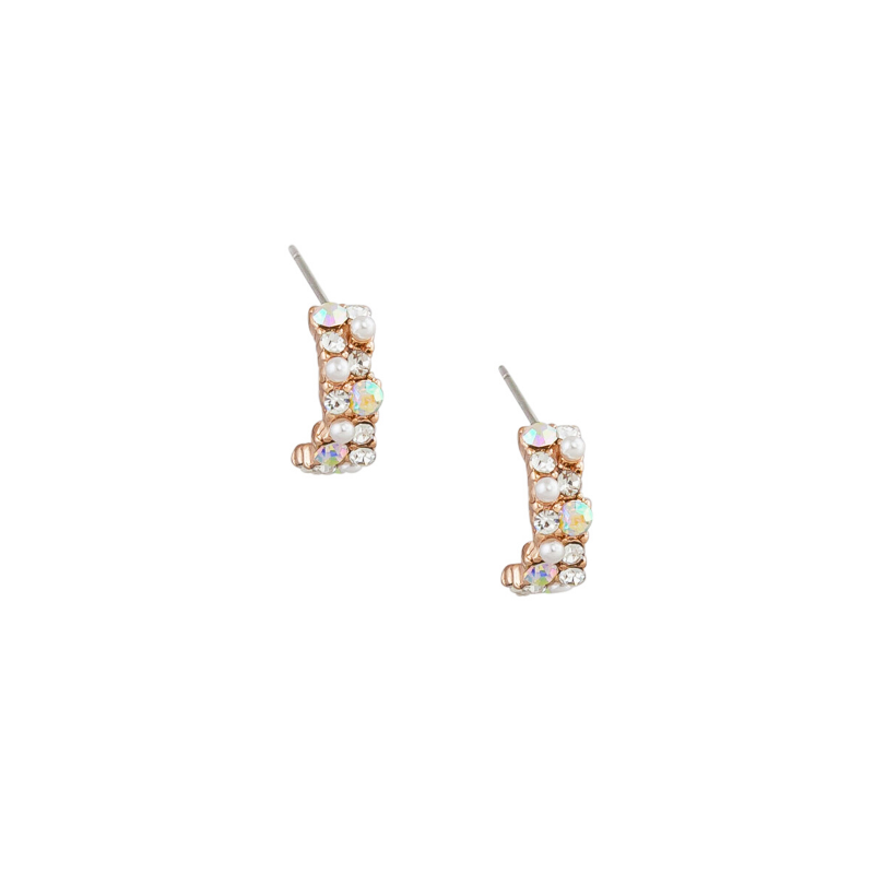 Tiger Tree | Crystal & Pearl Hoops | Shut the Front Door