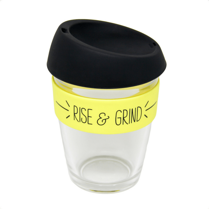 General Eclectic | Takeaway Cup 340ml Rise & Grind | Shut the Front Door