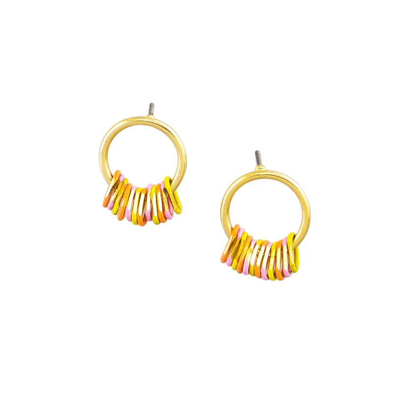 Tiger Tree | Earrings Gold/Multi Mini Me's | Shut the Front Door