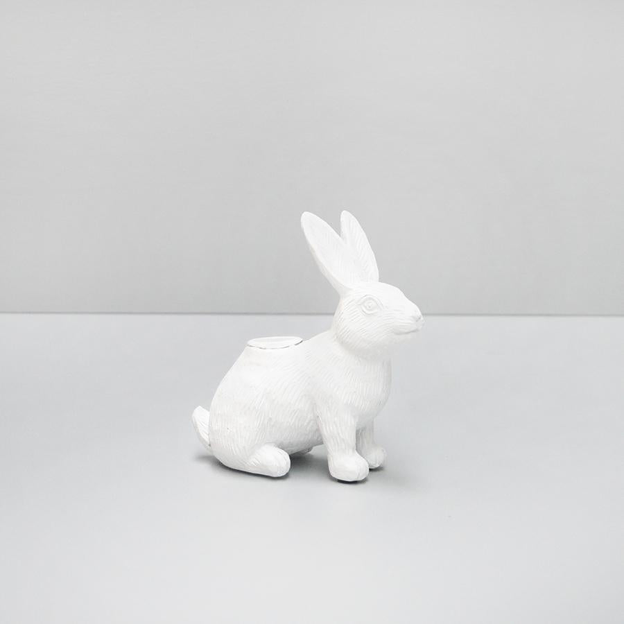White Moose | Bunny Candle Holder WHITE | Shut the Front Door
