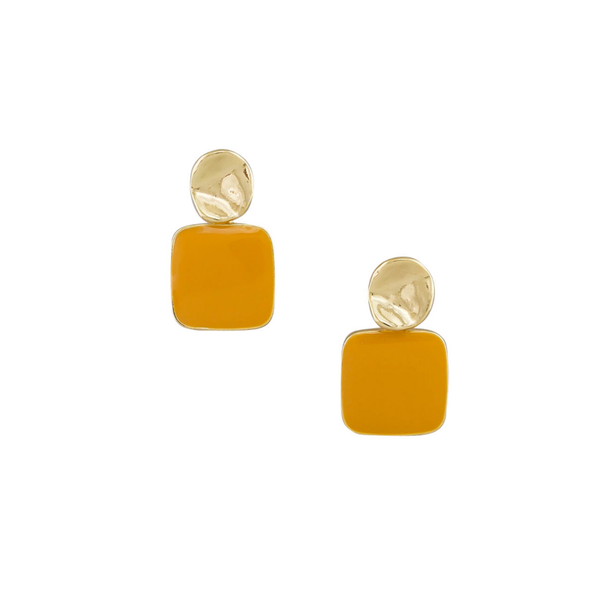 Tiger Tree | Retro Drop Earrings - Mustard | Shut the Front Door