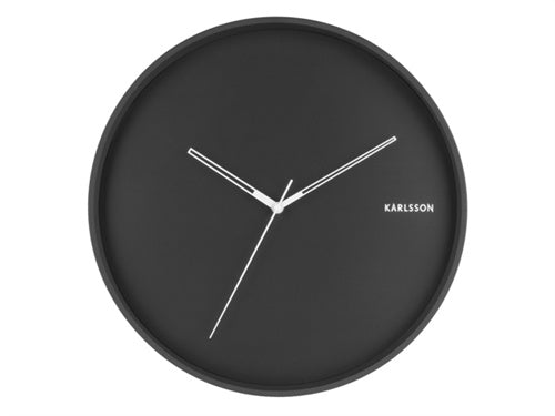 Karlsson | Hue Wall Clock - Black | Shut the Front Door