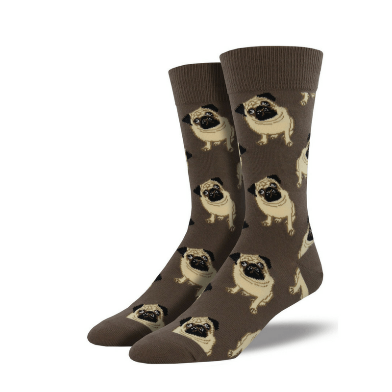 Socksmith | Socks Mens Pugs Brown | Shut the Front Door