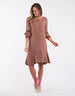 Elm Knitwear | Jemma Dress BROWN | Shut the Front Door