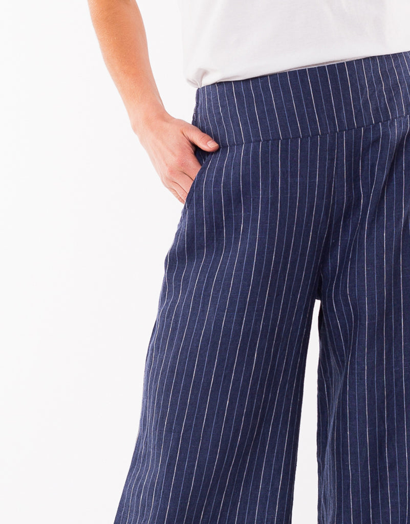 Elm Knitwear | Picnic Stripe Pant - Navy/White | Shut the Front Door