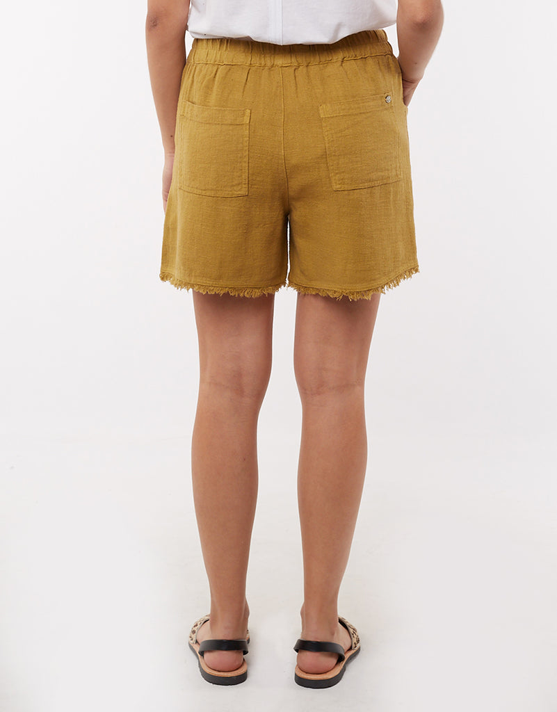 Elm Knitwear | Woodlands Shorts - Mustard | Shut the Front Door