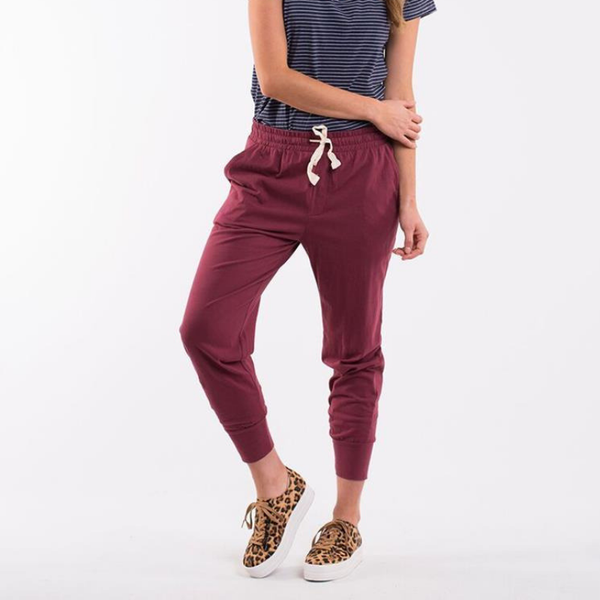 Elm Knitwear | Wash Out Lounge Pant BURGUNDY | Shut the Front Door
