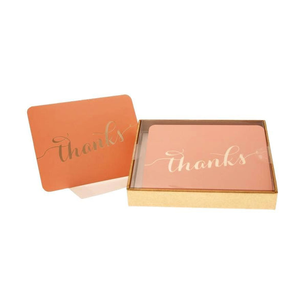 hiPP | Thank You Cards & Envelopes Peach/Gold Box | Shut the Front Door