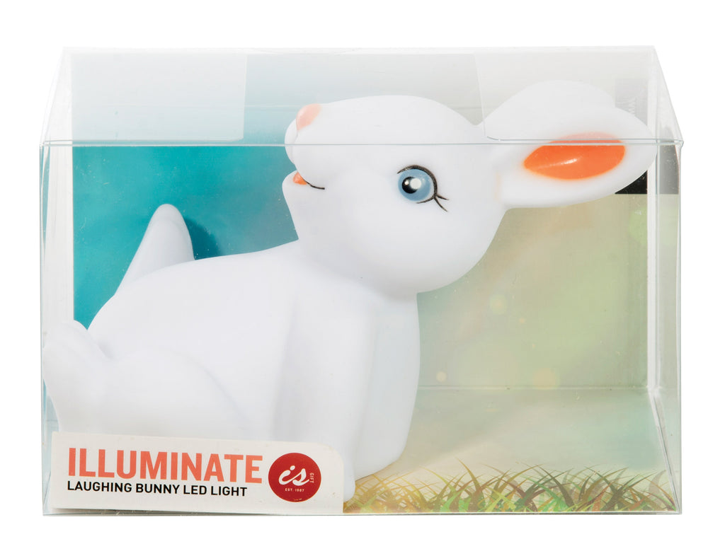 IS Gifts | Illuminate Laughing Bunny Night Light | Shut the Front Door