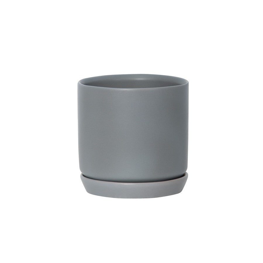 General Eclectic | Oslo Planter Grey Fog Large | Shut the Front Door