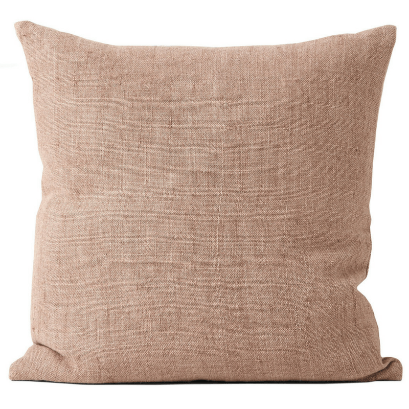 Aura | Vintage Linen Cushion in CLAY | Shut the Front Door