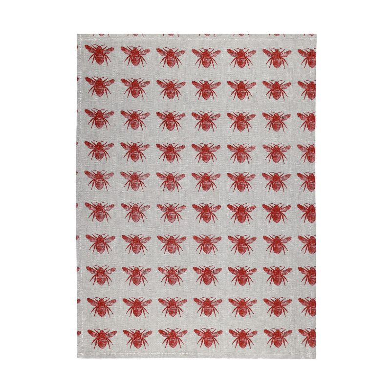Raine & Humble | Honey Bee Teatowel Terracotta | Shut the Front Door