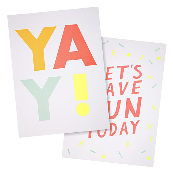 Meri Meri | Art Prints - YAY Set 2 | Shut the Front Door