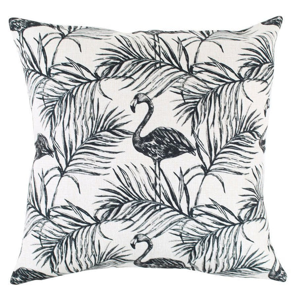 Escape to Paradise | Outdoor Cushion Flamingo Mono | Shut the Front Door