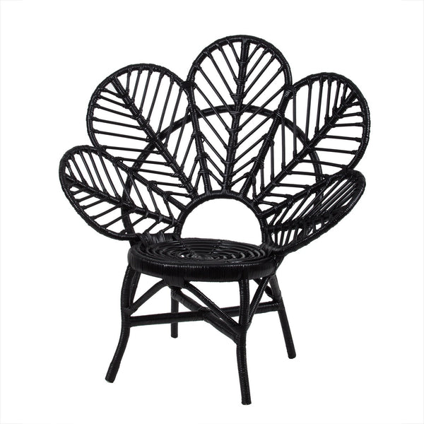 Rose Avenue | Rattan Leaf Chair BLACK Large | Shut the Front Door