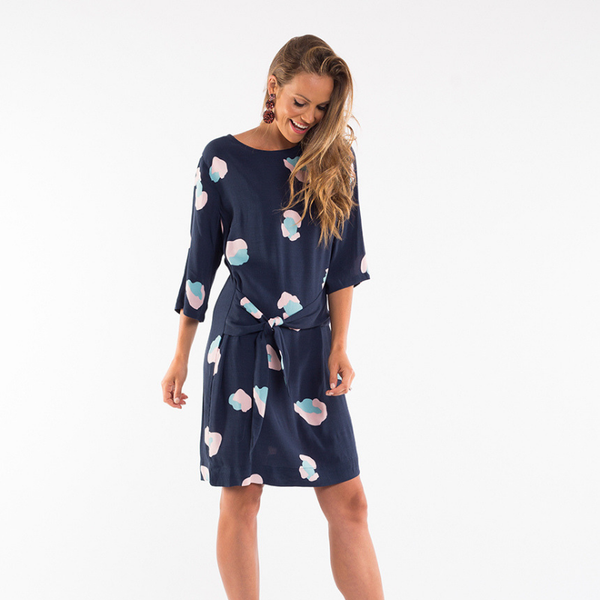 Elm Knitwear | Frances Shift Dress - Navy | Shut the Front Door