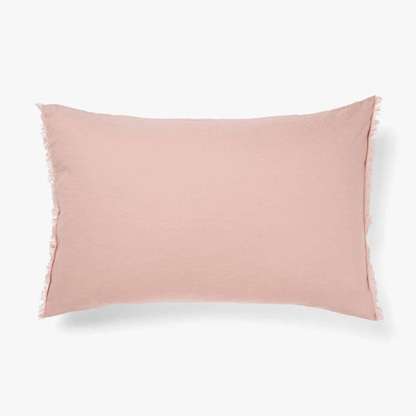 Pillow Case STD Maison Fringe ROSE DUST