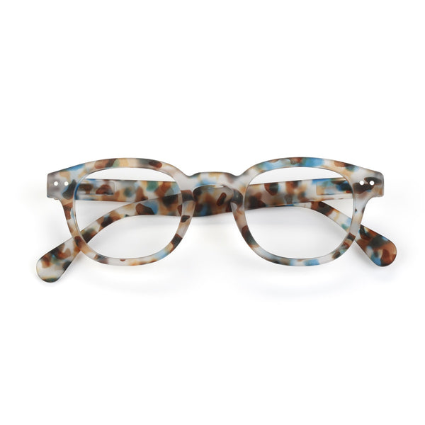 Izipizi | Reading Glasses Collection C Blue Tortoise +2.5 | Shut the Front Door