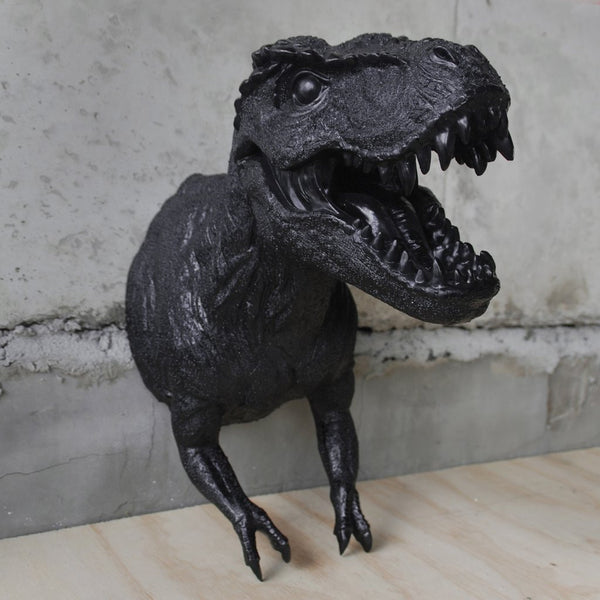 White Moose | Resin T-Rex Head BLACK | Shut the Front Door