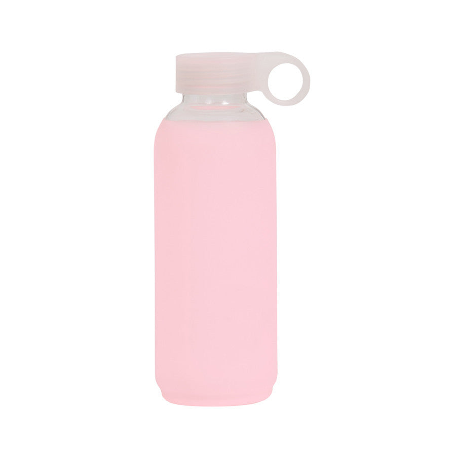 General Eclectic | Glass Silicone Drink Bottle PINK | Shut the Front Door