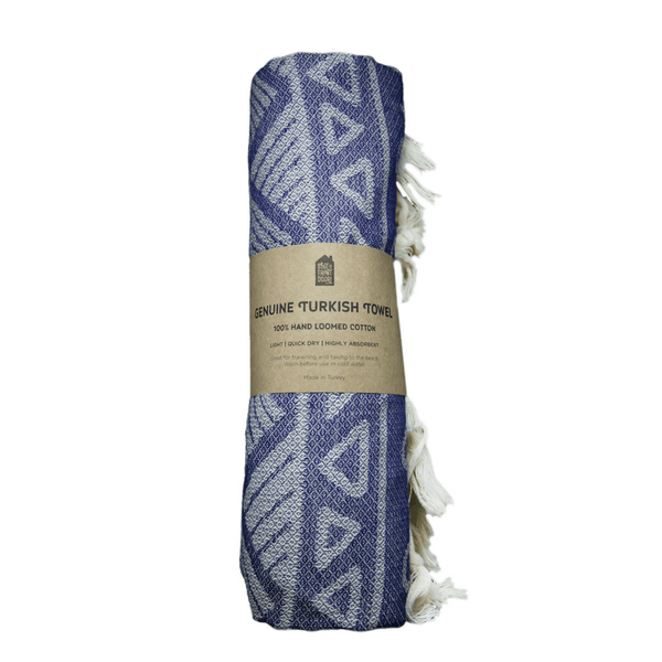 Shut The Front Door | Turkish Towel Aztec Navy | Shut the Front Door