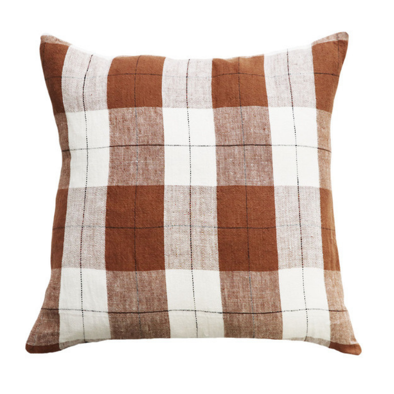 Mulberi | Willis Cushion 50x50 - Tobacco/Ivory | Shut the Front Door