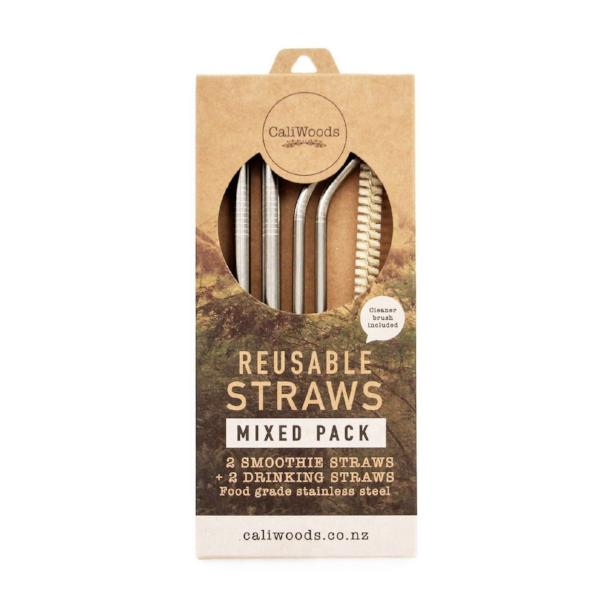CaliWoods | Reusable Stainless Steel Straws - Mixed Pack | Shut the Front Door