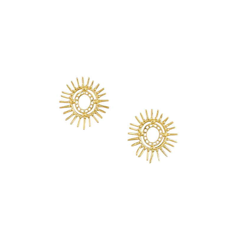 Tiger Tree | Shine On Earrings - Gold | Shut the Front Door