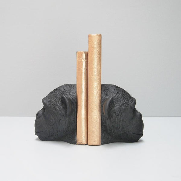 White Moose | Monkey Head Bookends Black | Shut the Front Door