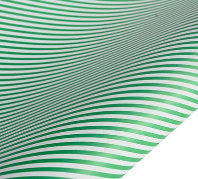 hiPP | Wrapping Paper -  Green Stripe | Shut the Front Door