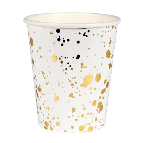 Meri Meri | Gold Splatter Party Cups | Shut the Front Door